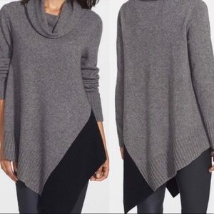 EILEEN FISHER Colorblock Cowl Neck Sweater Small